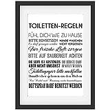 kloordnung klo ordnung blechschild 20x 15 cm wc toilette scheisshaus ordnung regel regeln. Black Bedroom Furniture Sets. Home Design Ideas