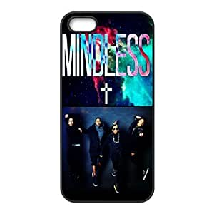 Gators Florida USA Design Music Band 14 Mindless Behavior Print Black Case With Hard Shell Cover for Apple iPhone 5S