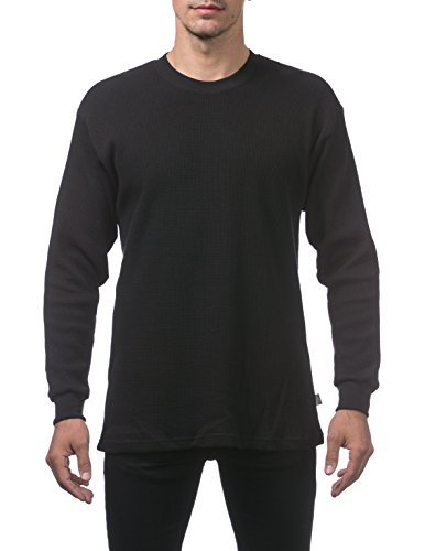 - Pro Club Men's Heavyweight Cotton Long Sleeve Thermal Top, 2X-Large, Black
