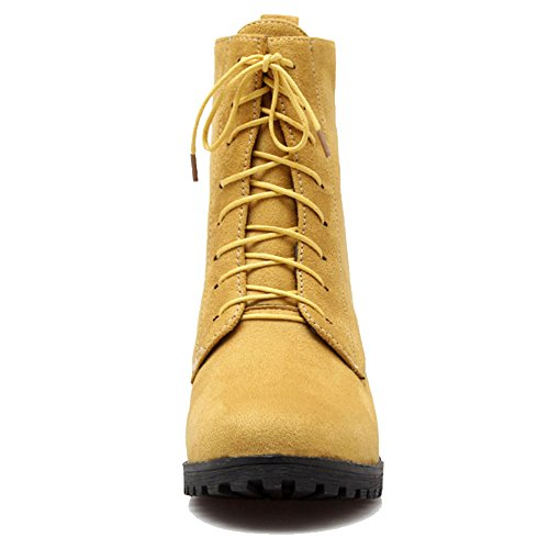 Martin with Colors Available Size Large Women Boots Boots Martin Nubuck Yellow Flat SJJH and 5 Swq8x5C