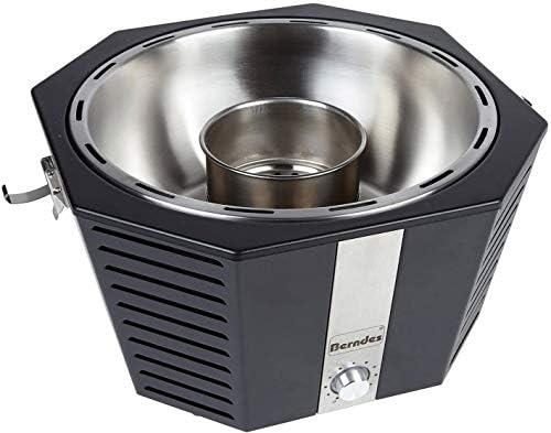 Berndes 501961 Barbecue à charbon de bois sans fumée Noir 39,5 x 38 x 23,5 cm avec couvercle Berndes et 6 pâtes combustibles Rösle
