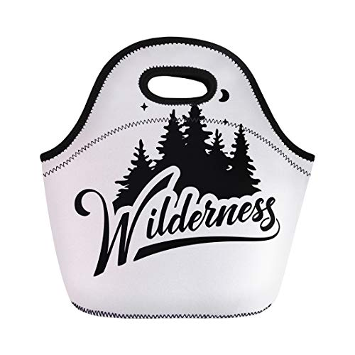 - Semtomn Neoprene Lunch Tote Bag Adventure Wilderness Badge Discover Draw Emblem Expedition Exploration Explore Reusable Cooler Bags Insulated Thermal Picnic Handbag for Travel,School,Outdoors,Work