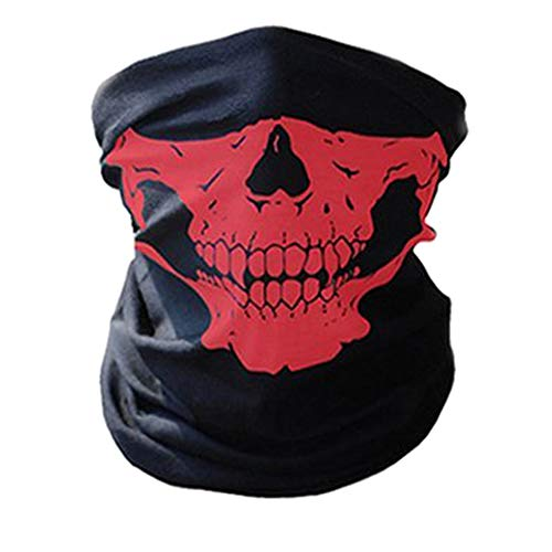 ZZoo Cotton Ghost Mask Skull Heads Warm Scarf Outdoor Cycling Dust Mask Halloween Cosplay Costume (Red) for $<!--$8.99-->