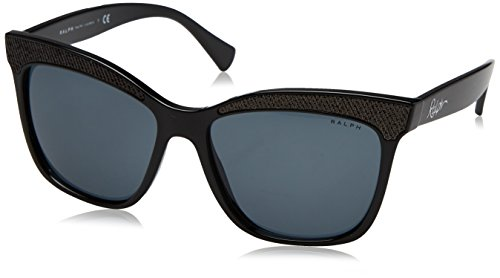 137787 Ra5235 Ralph 56 Paillettes Lauren Noir Lunettes Carré Front En black By greysolid Soleil De RPvqRwHxg