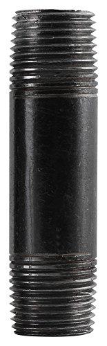 5 Black Steel Nipple - Southland 583-050HN Steel Nipples, 1/2