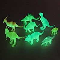 SaleON Set of 8 Glow in The Dark Luminous Dinosaur Action Figures Night Light Dinosaur Toys Easter Gift for Child Baby (1318)