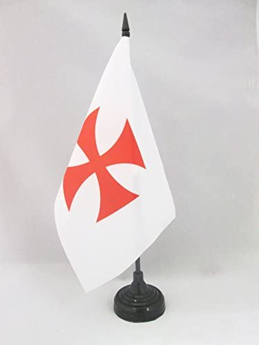 AZ FLAG Bandera de Mesa del Orden del Temple 21x14cm - BANDERINA ...