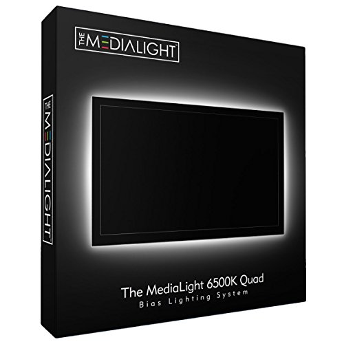 MediaLight Quad 6500K Bias Lighting System (122 LED's) with Remote Controlled dimmer ()