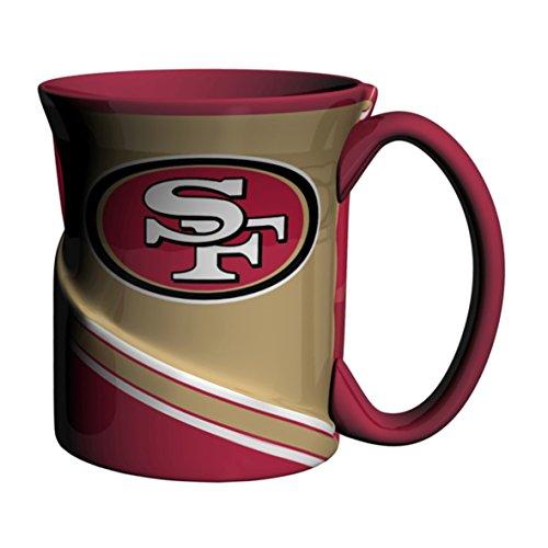 (NFL San Francisco 49ers Sculpted Twist Mug, 18-ounce)