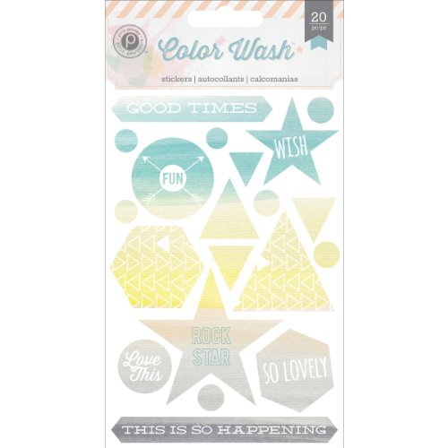 Pink Paislee Color Wash Canvas Stickers