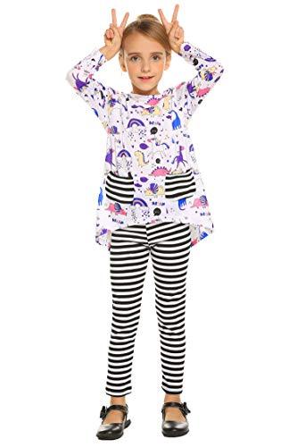 Balasha Little Girls Unicorn Clothing Sets Long Sleeve