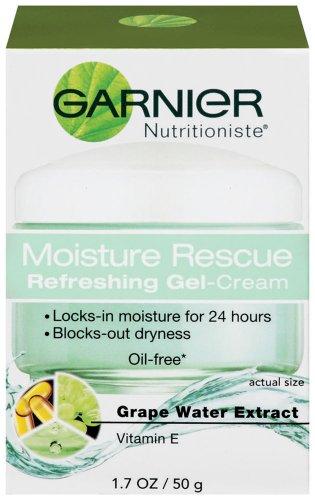Rescue humidité Garnier Rafraîchissant Gel-crème, extrait de l'eau de raisin, vitamine E, 1,70 once liquide