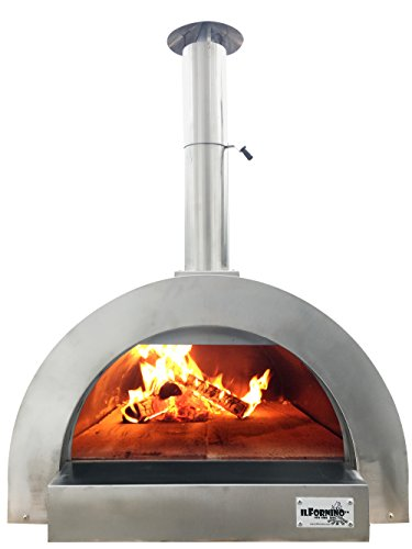 ilFornino F- Series Mini Wood Fired Pizza Oven- Portable Stainless Steel (Pizza Oven Wood)
