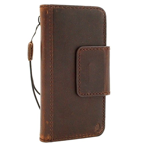 Genuine Vintage real Leather Case for Google Pixel book Wallet magnet cover Handmade cover Retro brown cards slots slim magnetic DavisCase