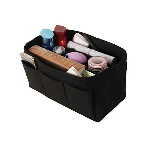 Felt Travel Storage Bags Women's Cosmetic Bags Cosmetic Bags Organizers Container Bags Accessories (L, black) by CBZ