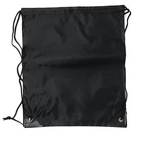 20 x Bulk Drawstring Backpack - Sports Bag Cinch Sack (Black)