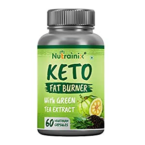 Nutrainix Keto Fat Burner with Garcinia Cambogia Fruit & Green Tea Extract for Weight Management – 60 Vegetarian…
