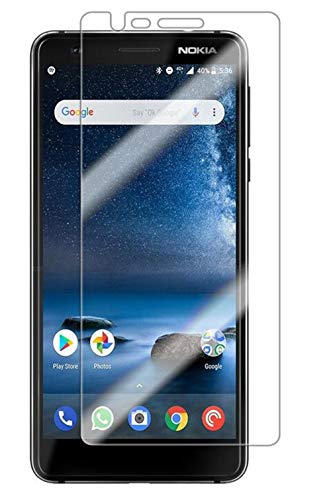 (Luckyandery Nokia 3.1 Screen Protector 35h Hardness, [Tempered Glass] Screen Protector, Anti-Scratch, Bubble Free for Nokia 3.1,5 Pack)