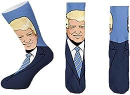 Best Price Men Knit Crew Socks Donald Trump