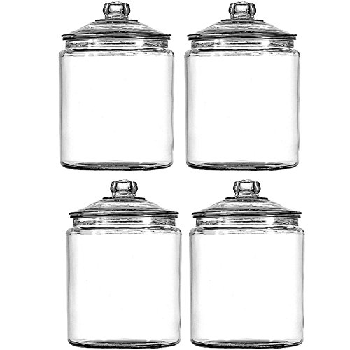 Anchor Hocking 102806 Heritage Hill Storage Jar 1 gallon, 4-Pack (Crock 1 Gallon)