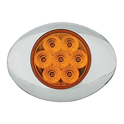 GG Grand General 76195 Amber/Amber LED Light (Small Low Pro Spyder 7 with Clear Bezel, 3Wire): Automotive