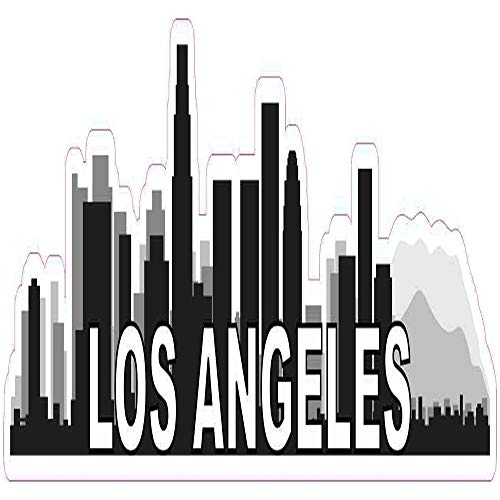 Los Angeles Skyline - Sticker Graphic - Auto, Wall, Laptop, Cell, Truck Sticker for Windows, Cars, Trucks