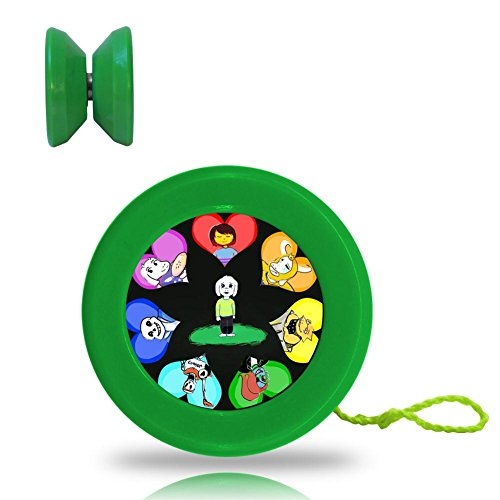 Undertale Role Flower Responsive YoYo King with Ball Bearing Axle and Extra String (Professional Cartoon Character Costumes)