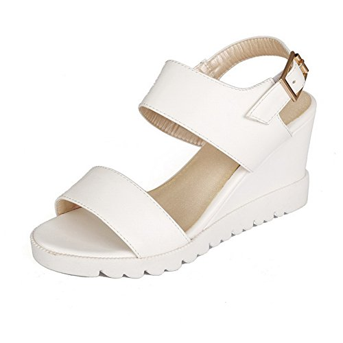 Soft White Sandals Buttom American Muffin Girls Material 1TO9 Buckle wRXUxO8U