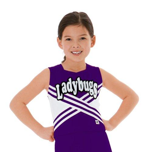 Criss-Cross Cheerleading Shell, YS, Purple