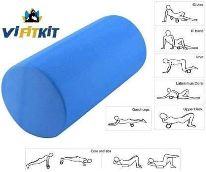 VIFITKIT® Fitness Massage Foam Roller for Deep Tissue Muscle Massage, Trigger Point Therapy, Exercise, and Workout. (Color may vary, Size: 12*4 inches) ) Price & Reviews