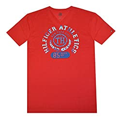 Tommy Hilfiger Men V-neck Graphic T-shirt