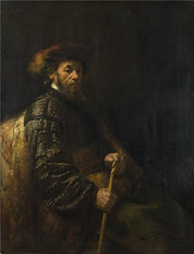 The High Quality Polyster Canvas Of Oil Painting 'Follower Of Rembrandt A Seated Man With A Stick ' ,size: 18 X 24 Inch / 46 X 60 Cm ,this Imitations Art DecorativeCanvas Prints Is Fit For Basement Gallery Art And Home Decoration And (Farm Tractor Deluxe Party Pack)