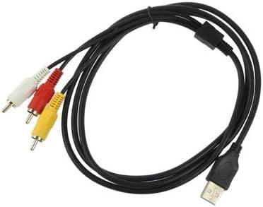 HD AVアクセサリライン USB 3のx RCAオスケーブル、長さ:1.5メートル.