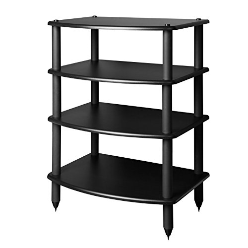 - Pangea Audio Vulcan Four Shelf Audio Rack (Black)