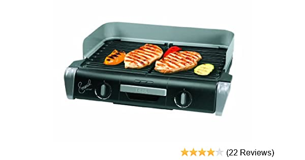 Amazon.com: Emeril By T Fal TG8000 XL Griller With Two Independent  Temperature Controls, Silver: Electric Contact Grills: Kitchen U0026 Dining