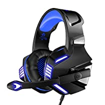 VersionTECH V-3 Gaming Headset for PS4, Xbox One, PC, Gaming Headphones with Mic for Laptop, Mac, Nintendo Switch, iPad, Tablet, Smartphones