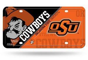 NCAA Oklahoma State Cowboys Metal License Plate Tag