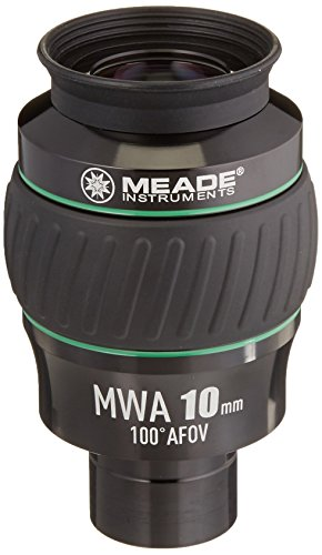 Meade Instruments 607016 Eyepiece, 100 Degree, MWA 10MM, 1.25-Inch (Black/Green) by Meade