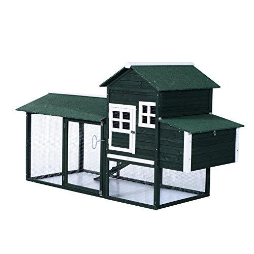 Pawhut-Wooden-Backyard-Poultry-Hen-House-Chicken-Coop-Green