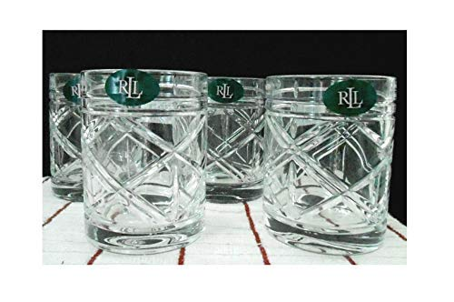 (Lauren Ralph Lauren Brogan Crystal Double Old Fashioned Glasses Set of 4)
