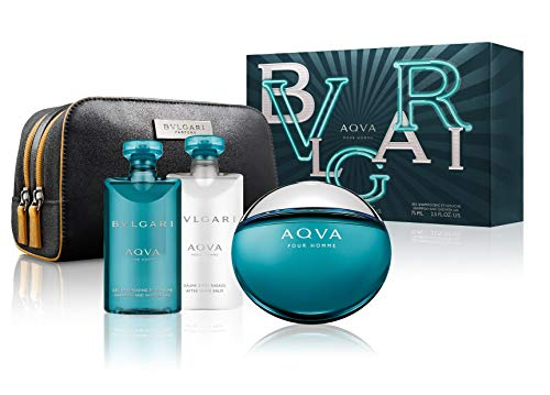 - Bvlgari Aqva for Men 3 Pieces Set, 8.4 Ounce