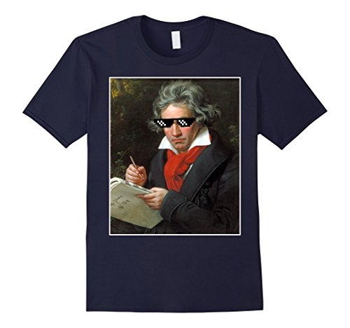 Mens Beethoven Music Funny Sunglasses Meme Shirt Small - Meme Small Sunglasses