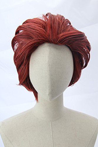 Price comparison product image Short Dark Red Moira Wig inspired by Overwatch