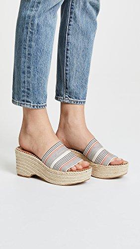 Sandal Stripe Wedge Espadrille Vita Women's Dolce Lada Coral Elastic nWpX0gwq