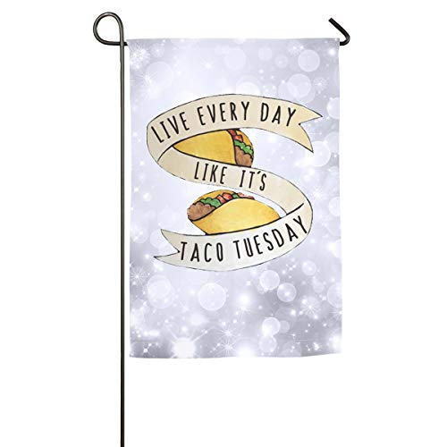 Kettle Halo (Sakanpo Live Every Day Like It's Taco Tuesday Home Family Party Flag 101 Hipster Welcomes The Banner Garden Flags)