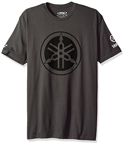 Price comparison product image Factory Effex 16-88292 'YAMAHA' Tuning Fork T-Shirt (Charcoal, Large)