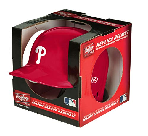 Rawlings MLB Philadelphia Phillies Mini Replica Helmet, Red
