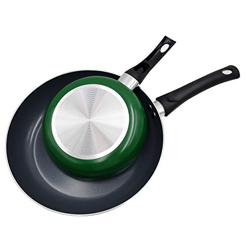 Aidea Ceramic Nonstick Frypan Set - Frying Pans 8 Inches 11-Inch Set Green
