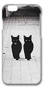 iPhone 6 Case, Custom Design Covers for iPhone 6 3D PC Case - Two Black Cats