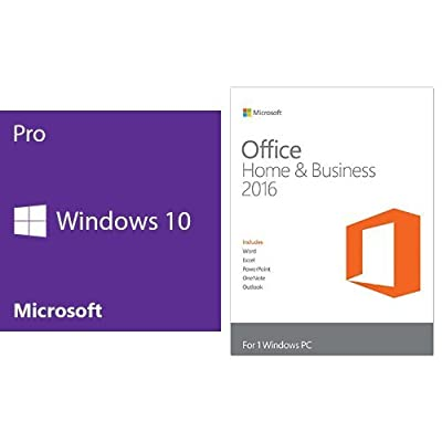 Windows 10 Pro 64 Bit System Builder OEM with Microsoft Office Home and Business Key Card